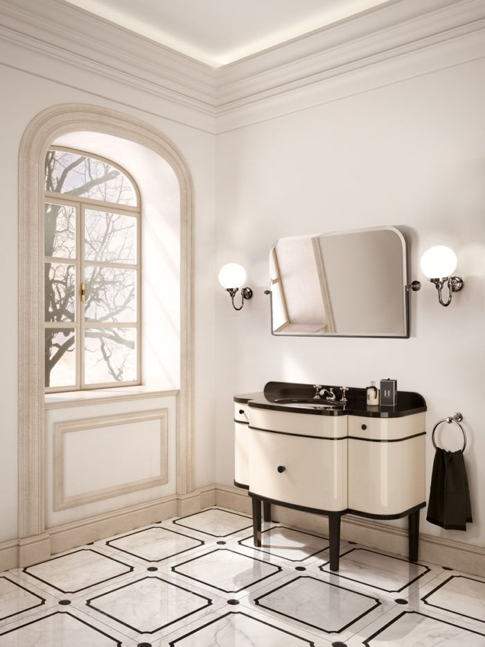 Music Classic Bathroom Vanity By Devon Devon In 2020 Art Deco Bathroom Vanity Art Deco Bathroom Art Deco Interior