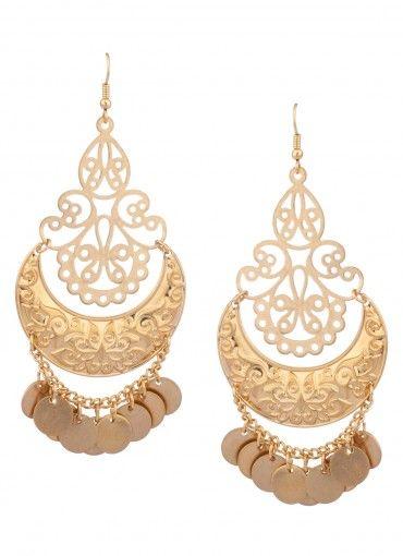 Shimmie Shake Cutout Earrings Gold
