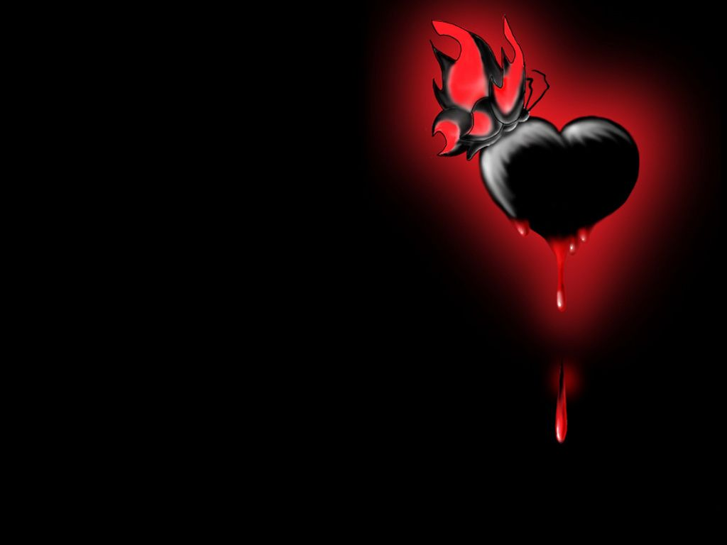 Black Heart Bleeding Black Heart Hd Wallpaper Corazones