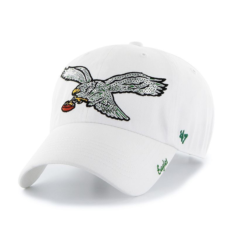 online store 33226 db6cc Women s  47 Brand Philadelphia Eagles Sparkle Adjustable Cap, Ovrfl Oth