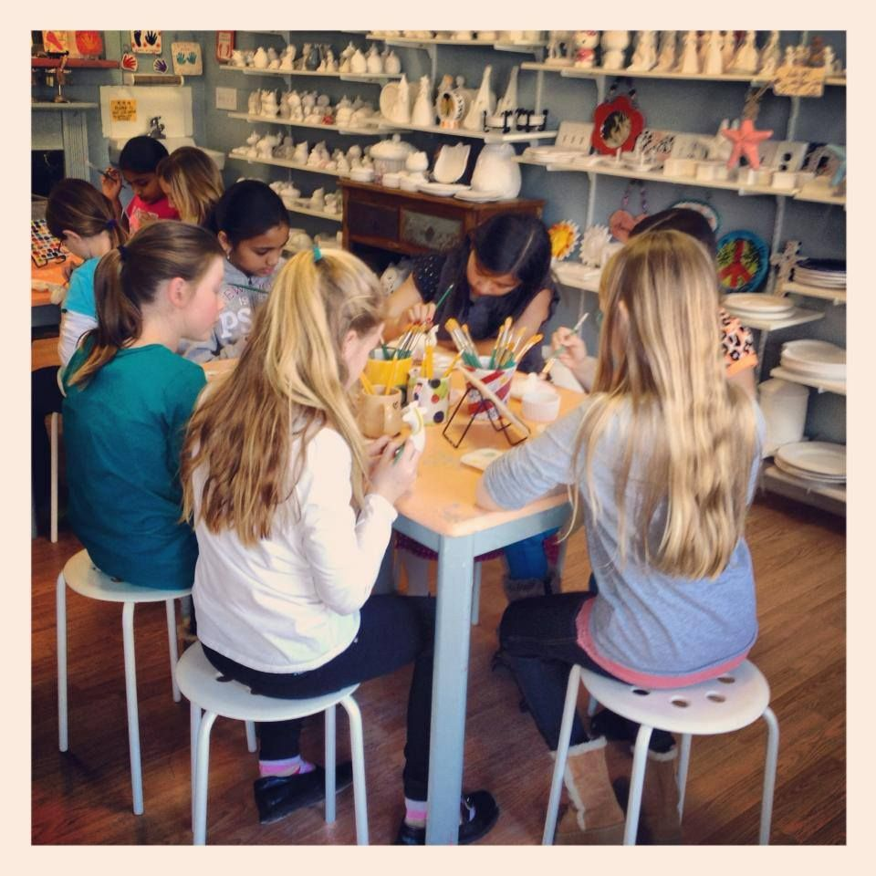 Paint your own pottery Birthday Party in Barrington RI Birthday