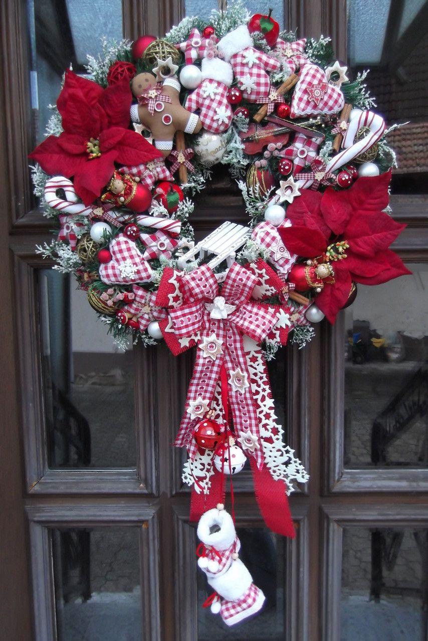 handmade with love door wreath christmas pinterest. Black Bedroom Furniture Sets. Home Design Ideas