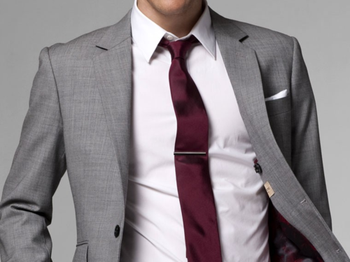 Grey suit and burgundy tie | His Style | Pinterest | Grey, Suits ...