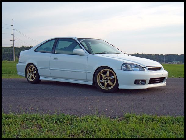 Ej8 gold volk te37 automoto pinterest honda civic for Gold honda civic
