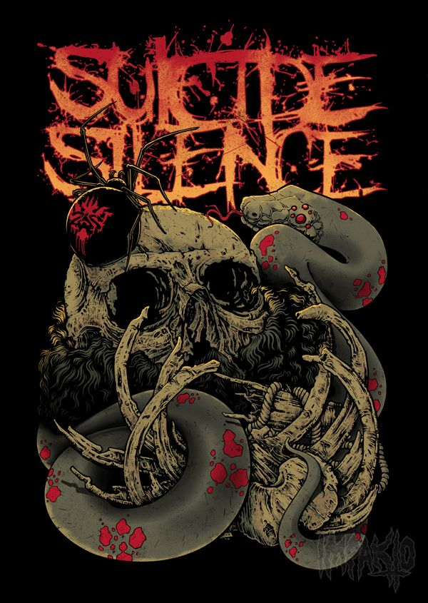 suicide silence by impakto design graphics typography pinterest concerts band and haha. Black Bedroom Furniture Sets. Home Design Ideas
