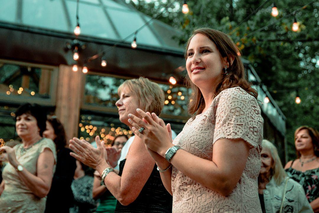 Watching them dance Documentary wedding photography