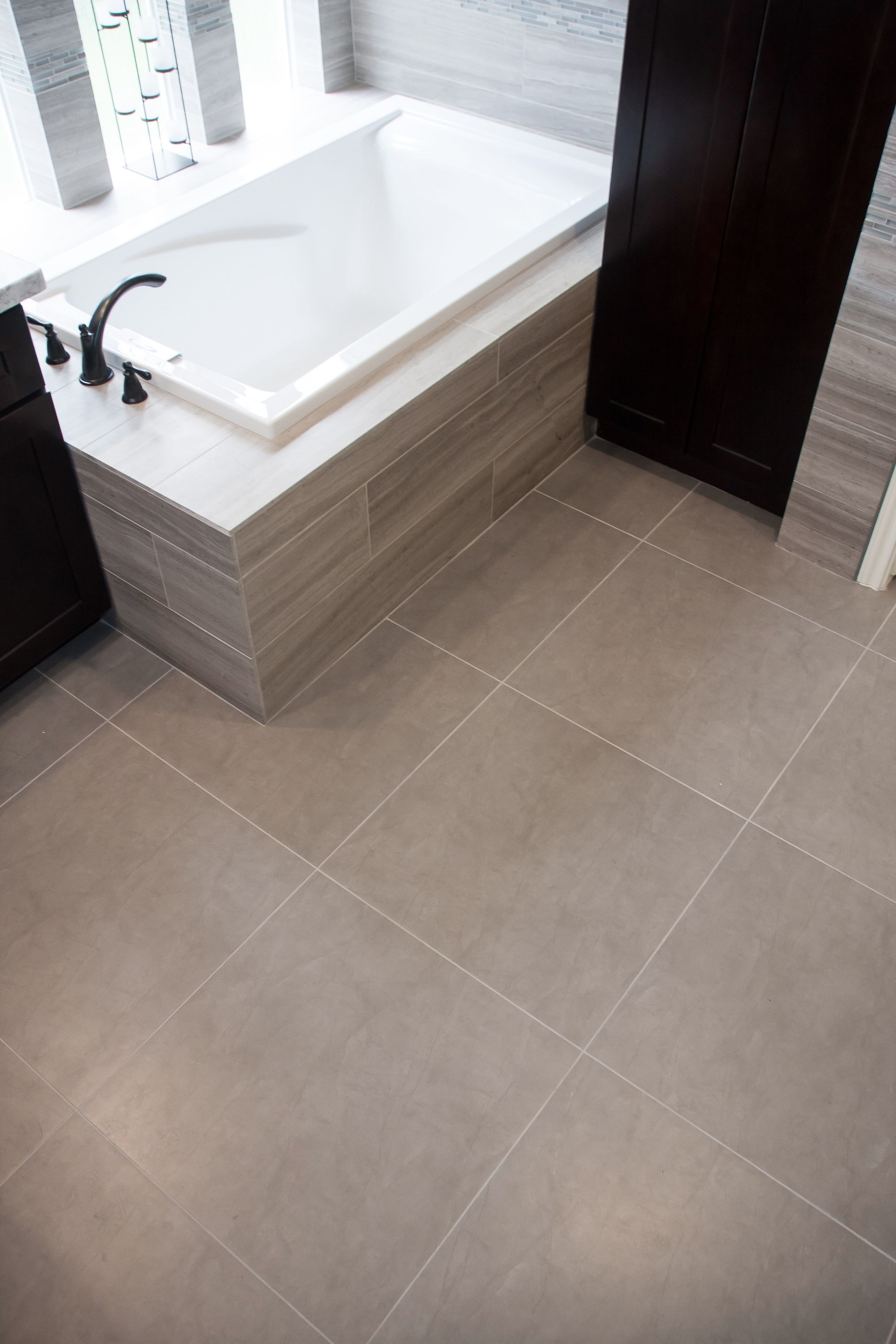 Master Bath Floor Emser Citadel Gray 24x24 Straight Set 1 Home