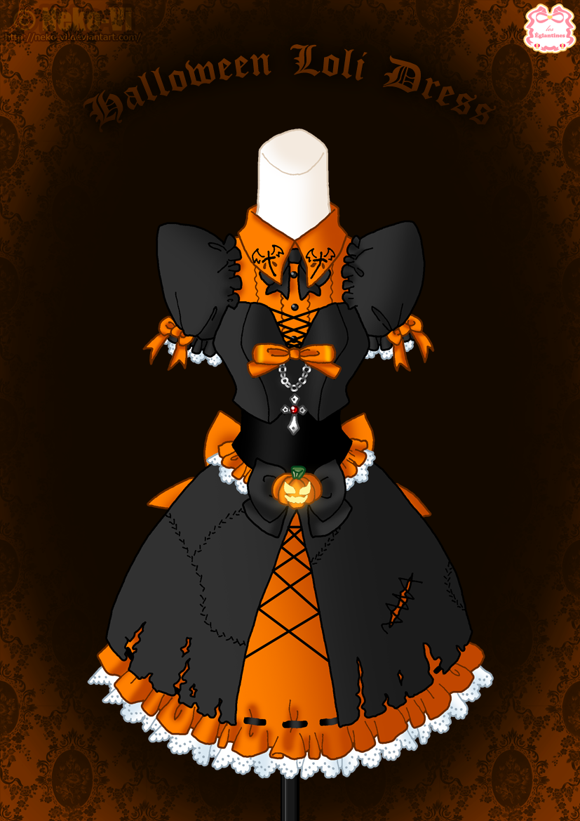 Halloween Loli Dress by Neko-Vi.deviantart.com on @DeviantArt