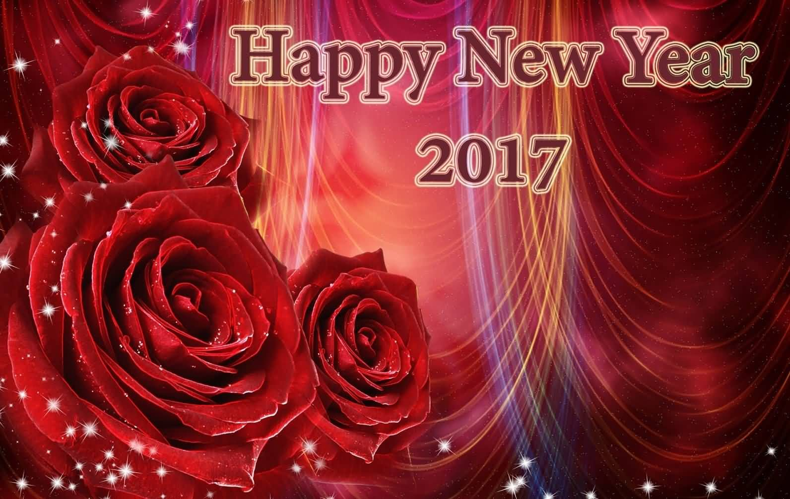 happy new year 2017 rose flowers picture