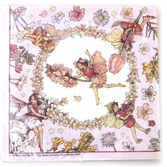 Import paper towel flower fairy pink 732-300 Switzerland シシリーメアリーバーカー fairies decoupage wrap