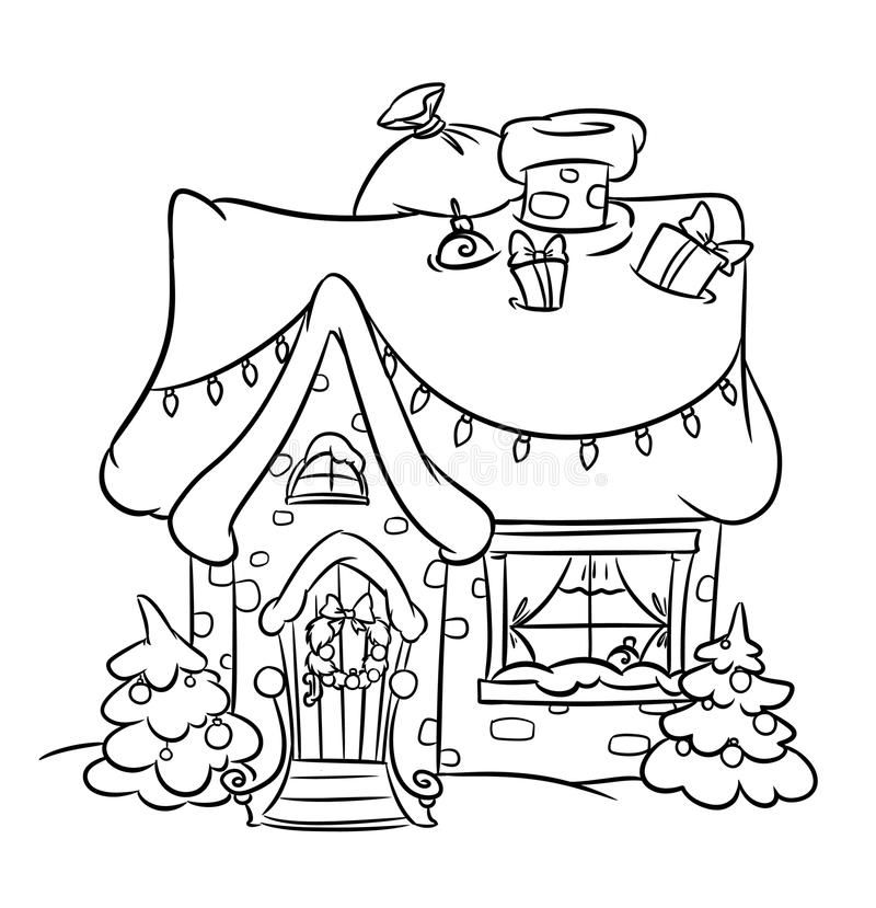 Christmas Snow House Royalty Free Stock Photography Image 35539057 Christmas Coloring Sheets Christmas Stencils Christmas Coloring Pages