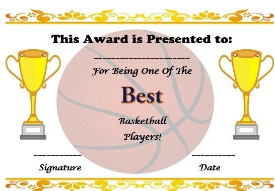 Free basketball certificate template basketball certificate free basketball certificate template yadclub Choice Image