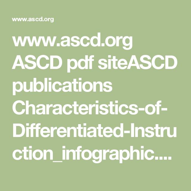 Ascd Ascd Pdf Siteascd Publications Characteristics Of