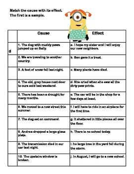 Cause And Effect Printable Worksheets