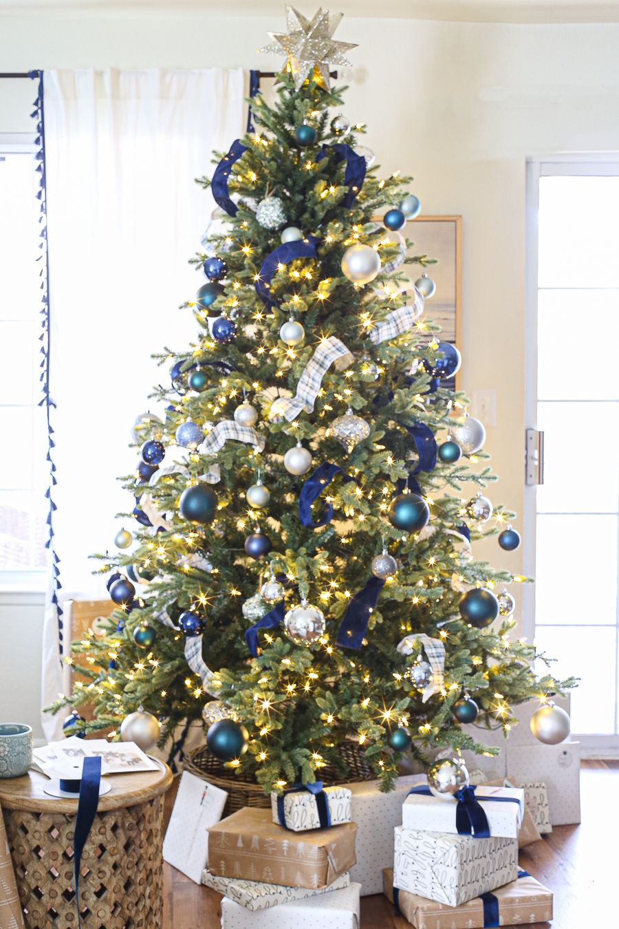 Blue and Green Christmas Decor in the Rental House -   17 christmas tree decor 2020 blue ideas