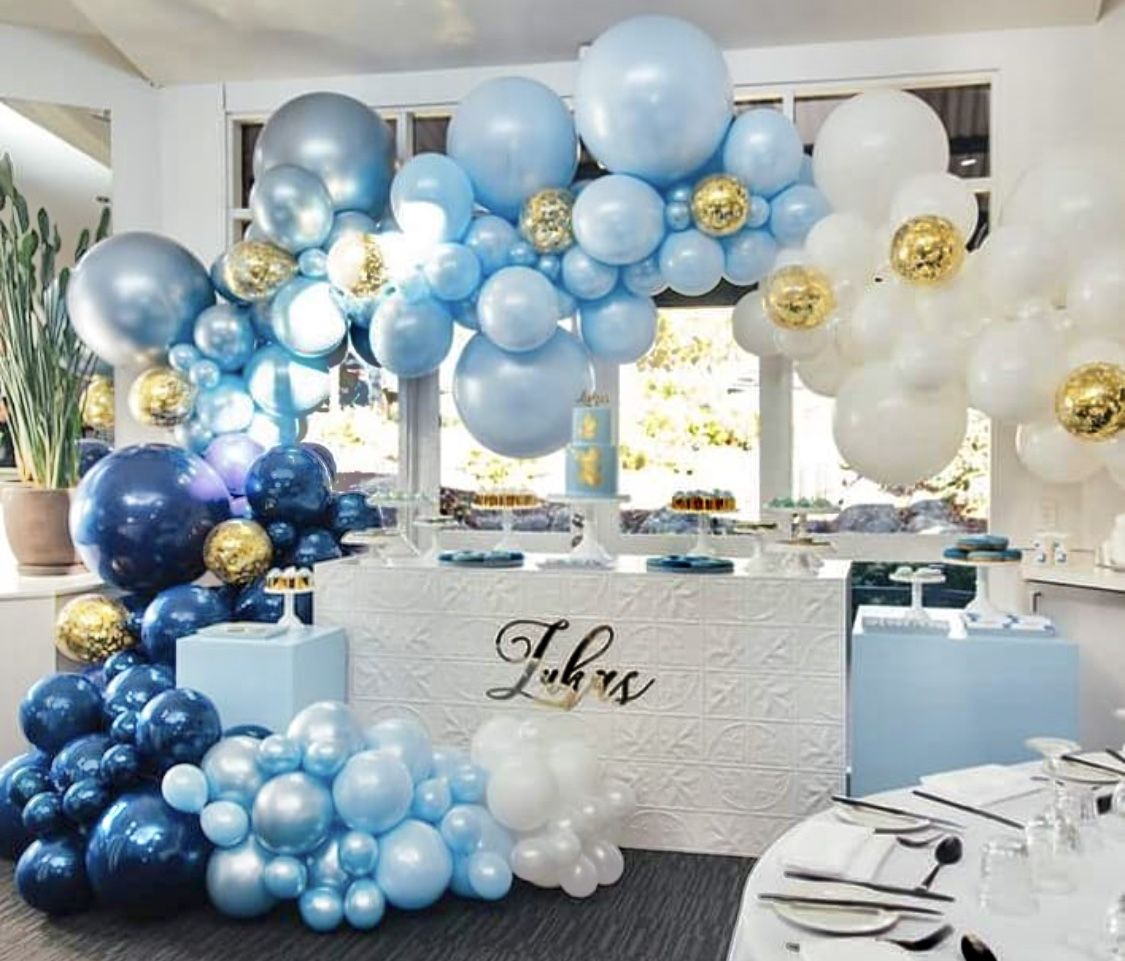 It S A Boy I M Loving All The Different Shades Of Blue Balloons