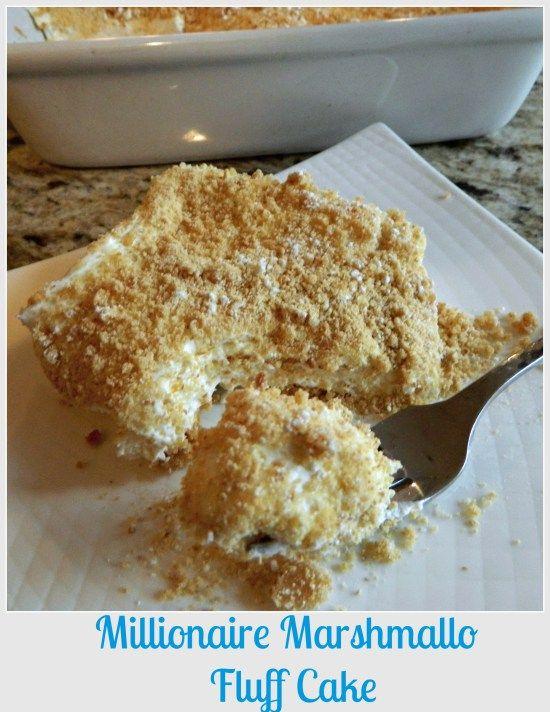 Millionaire Marshmallow Fluff Cake #marshmallowflufffrosting