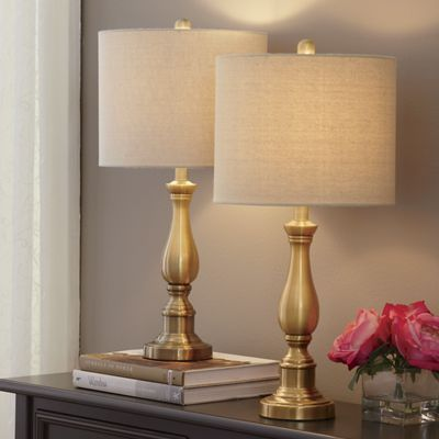Set of 2 golden touch lamps