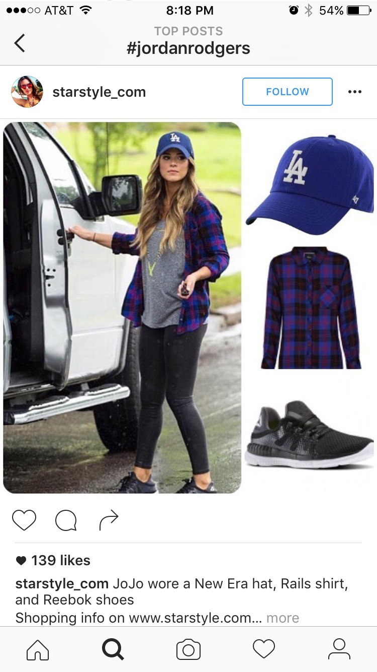 6d28ecd46eaa2 Discover ideas about Baseball Game Outfits. JoJo Fletcher wearing Los  Angeles Dodgers Baseball Cap ...
