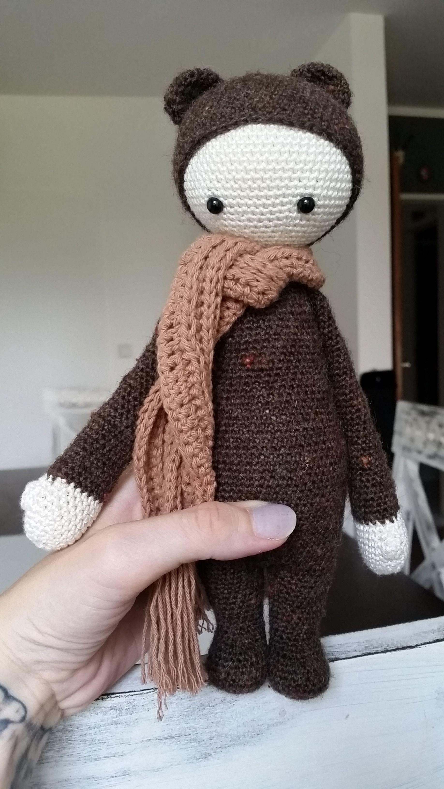 Bina the bear made by Nina D. / crochet pattern by lalylala