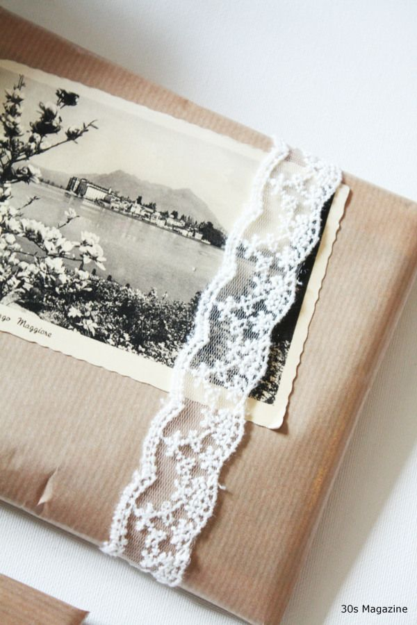 brown paper gift package