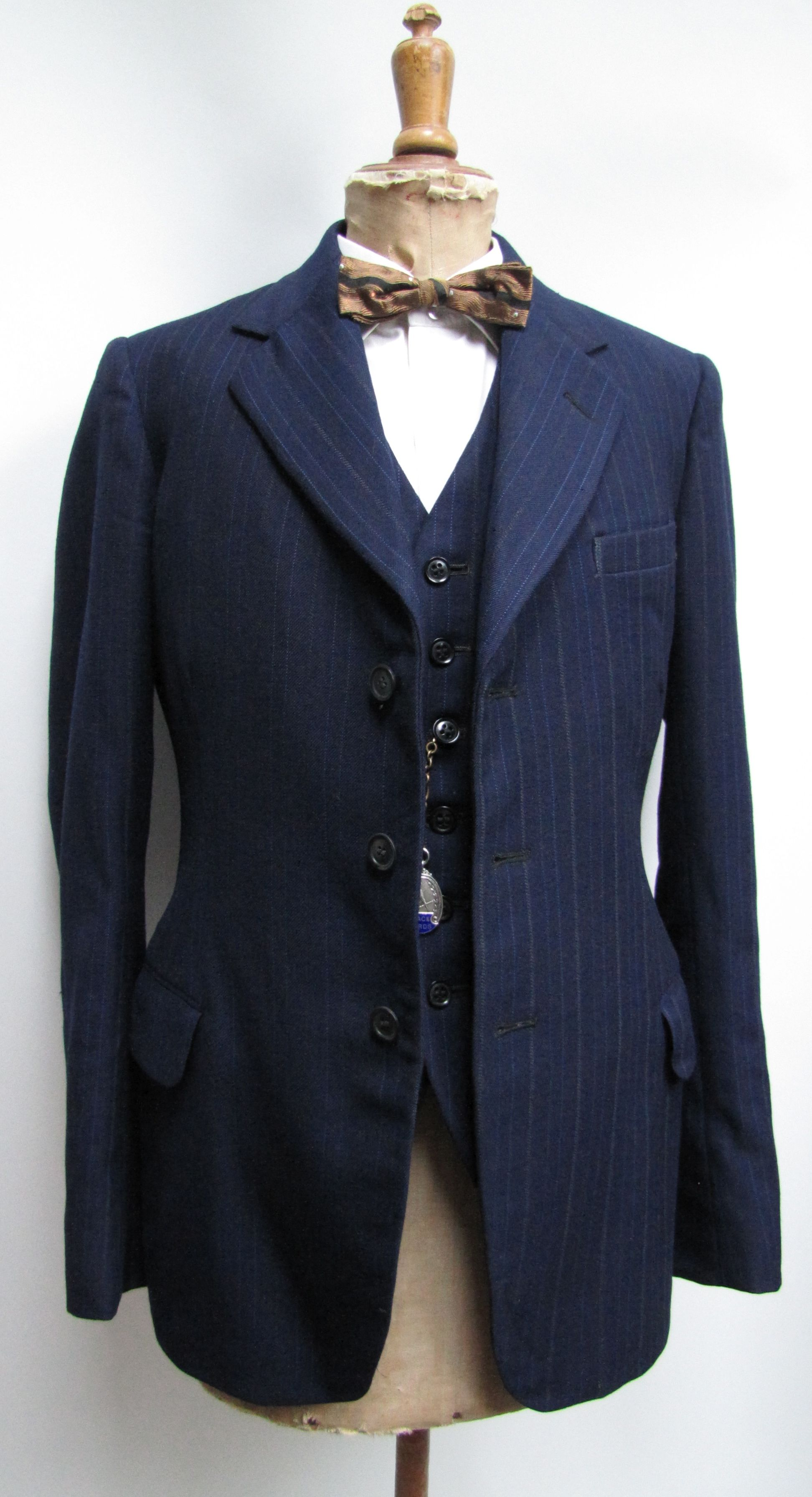 ee3c33f5dab 1940 s 3 piece suit. labelled 1946 demob d serviceman. Stock from  www.froggywentcourting.co.uk