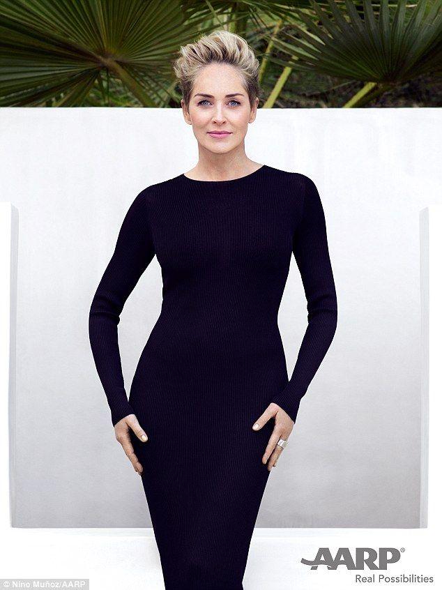 Sharon Stone 58 Looks Half Her Age In Skintight Dress On Aarp