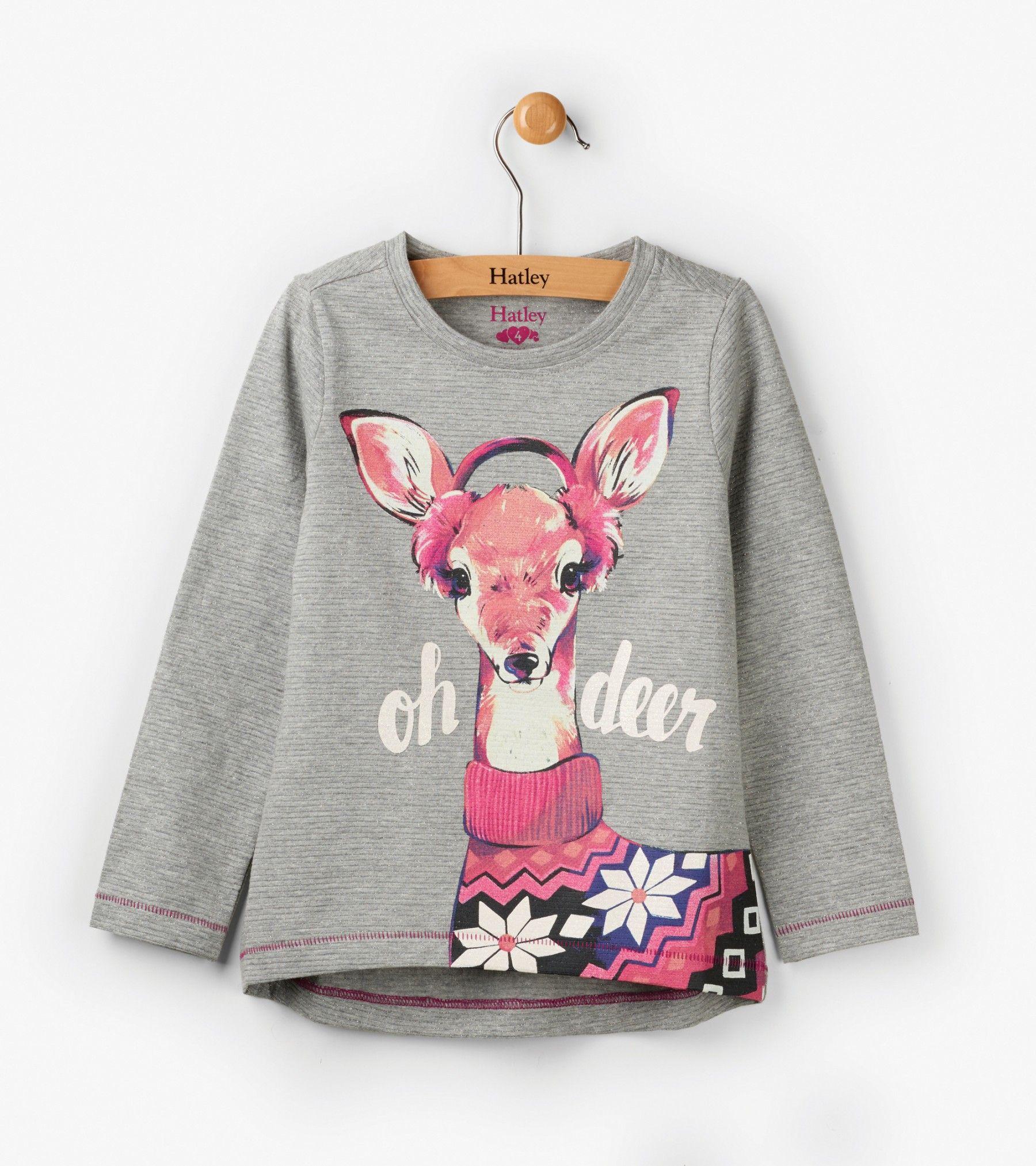 16f0b6e86 Oh Deer Long Sleeve Tee - Tops - Shop All - Girls