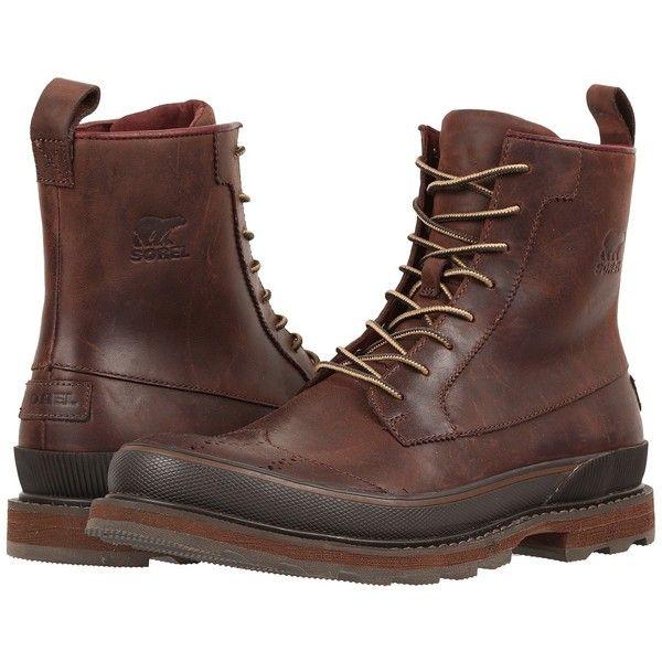 Trendy Boots Booties SOREL Madson Wingtip Boot Black Men US Online