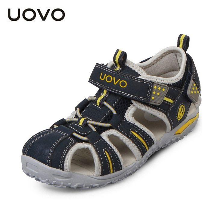 cde0e90f5a901 Click to Buy    2016 summer UOVO brand beach kids shoes closed toe ...