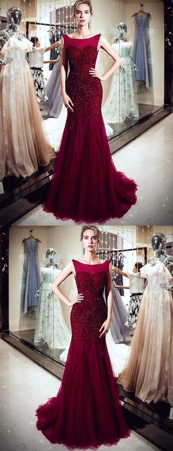 Cheap admirable prom dresses mermaid sleeveless evening dresses