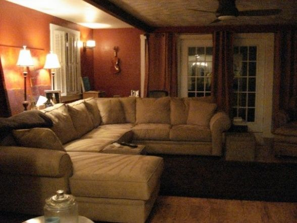 Country Living Room Decorating Ideas With Sectional Couches Completed We Found A 12 Foot Long Sofa That Is Perfect