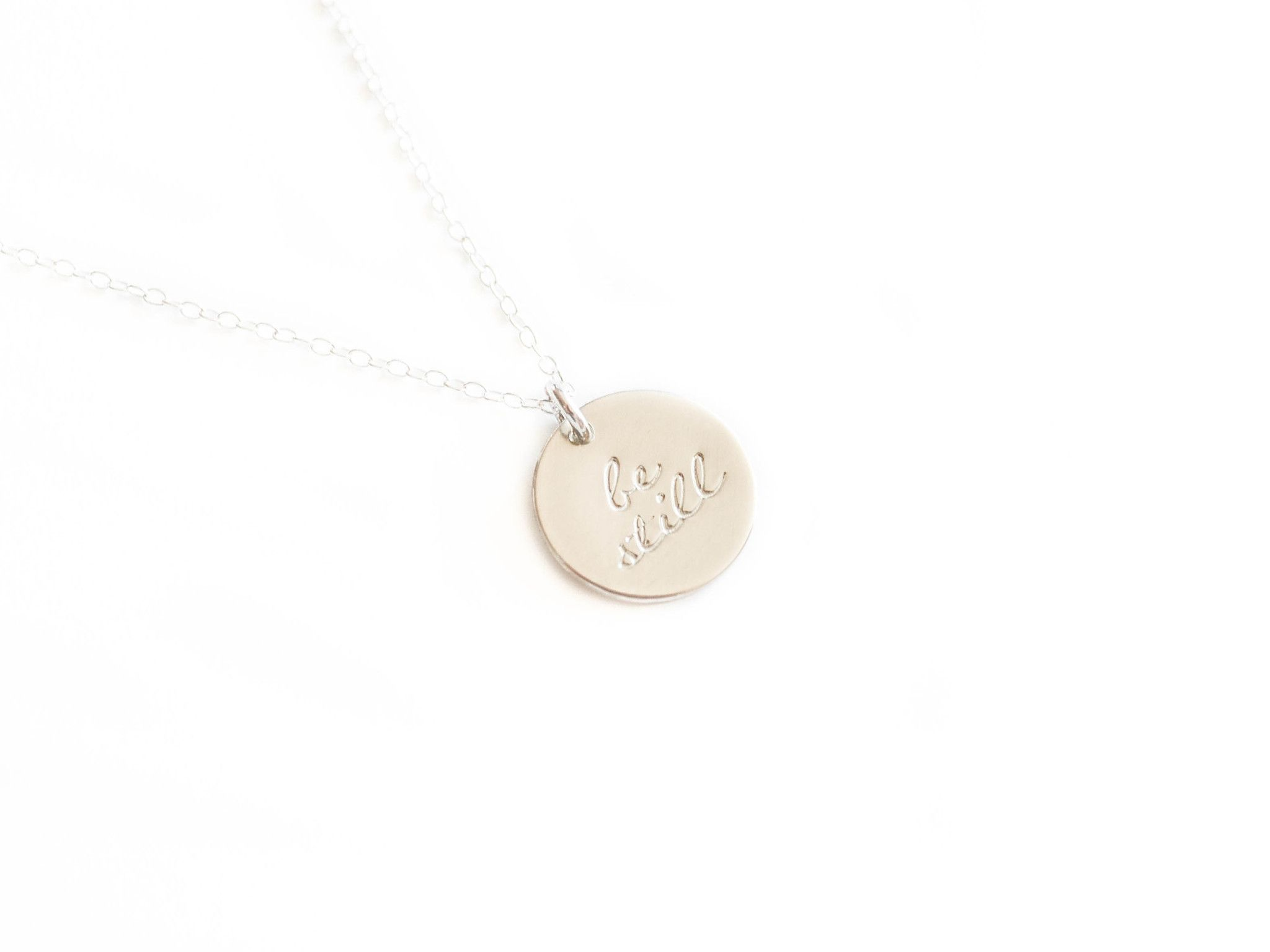 Be Still Round Necklace