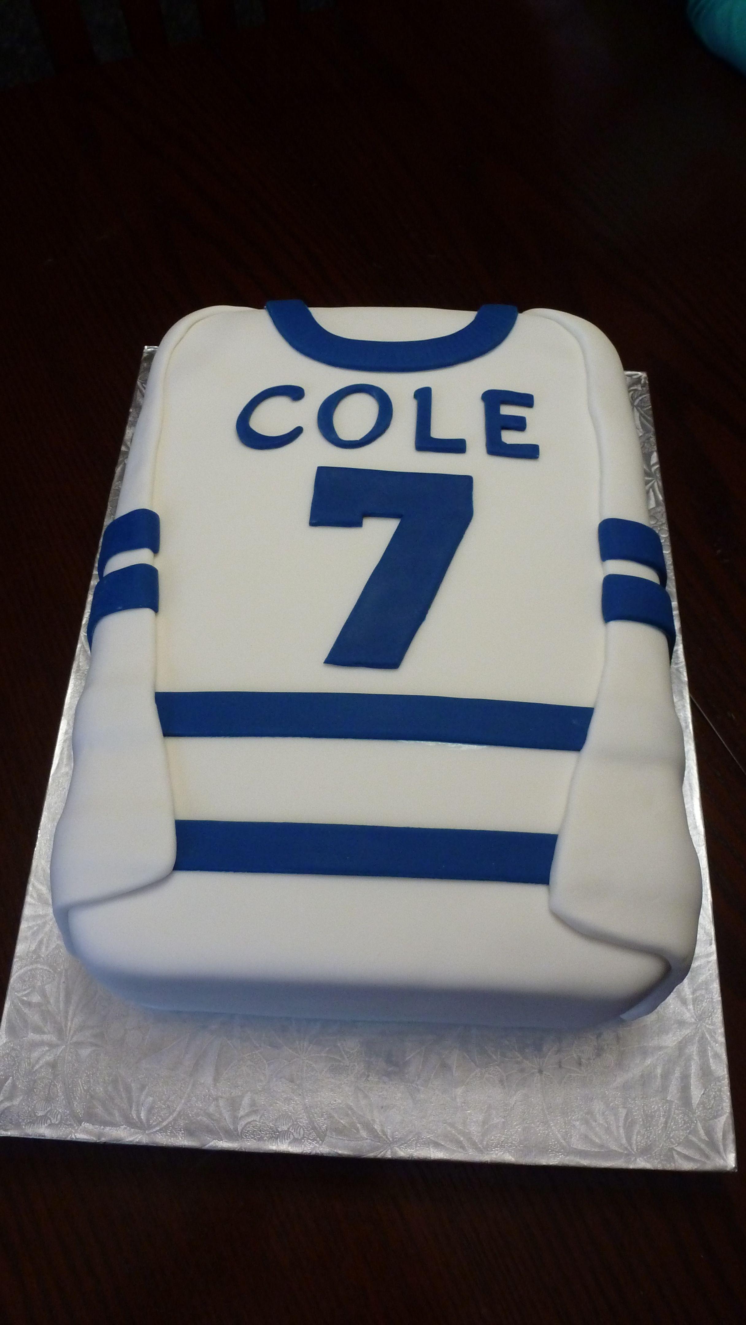 Hockey Jersey Cake Cake Hockey Jersey Jersey