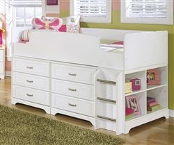 Lulu Loft Bed By Ashley Furniture With Built In Drawers B102 68t Twin Loft Bed Loft Bed Kids
