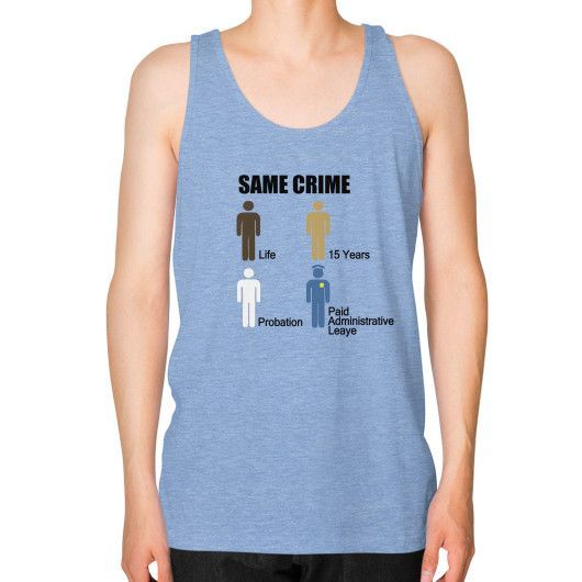 Same Crime Unisex Fine Jersey Tank (on man) Shirt