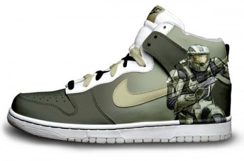 Halo Nike Dunks High Tops For Man : Cool High Tops Nikes