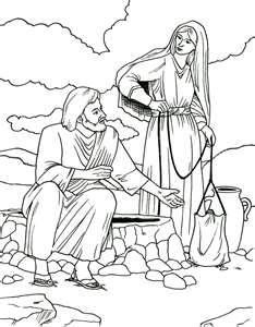 Woman At The Well Coloring Page With Images Sunday School