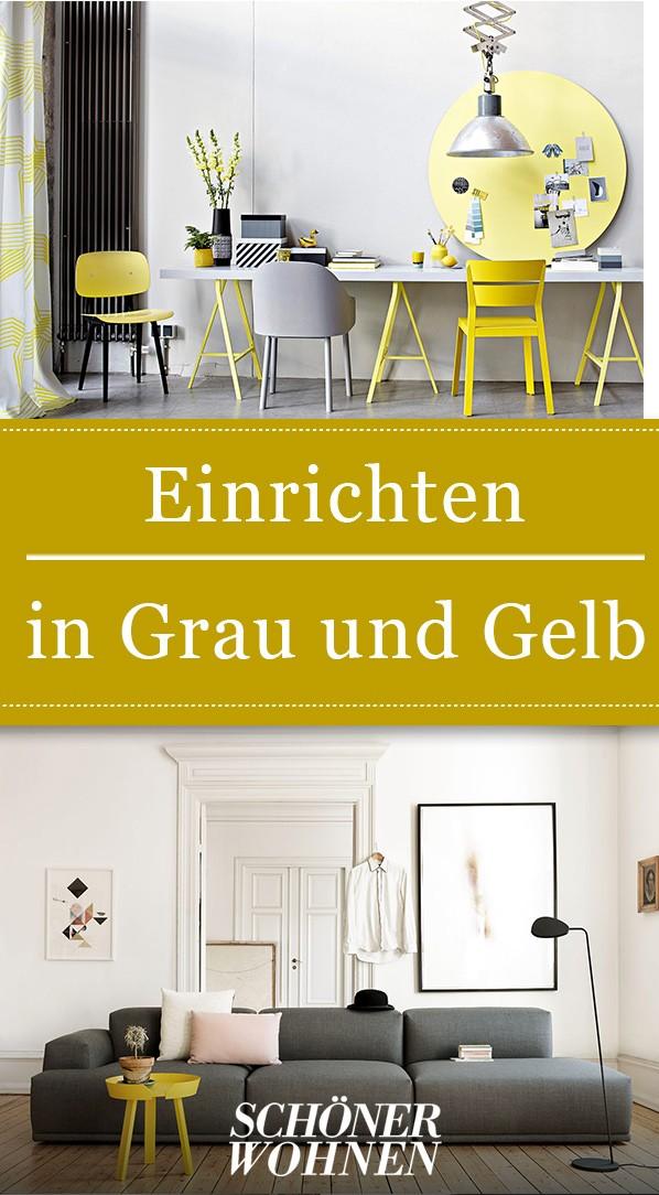 Trendfarben Grau Und Gelb Haus Deko Grau Gelb