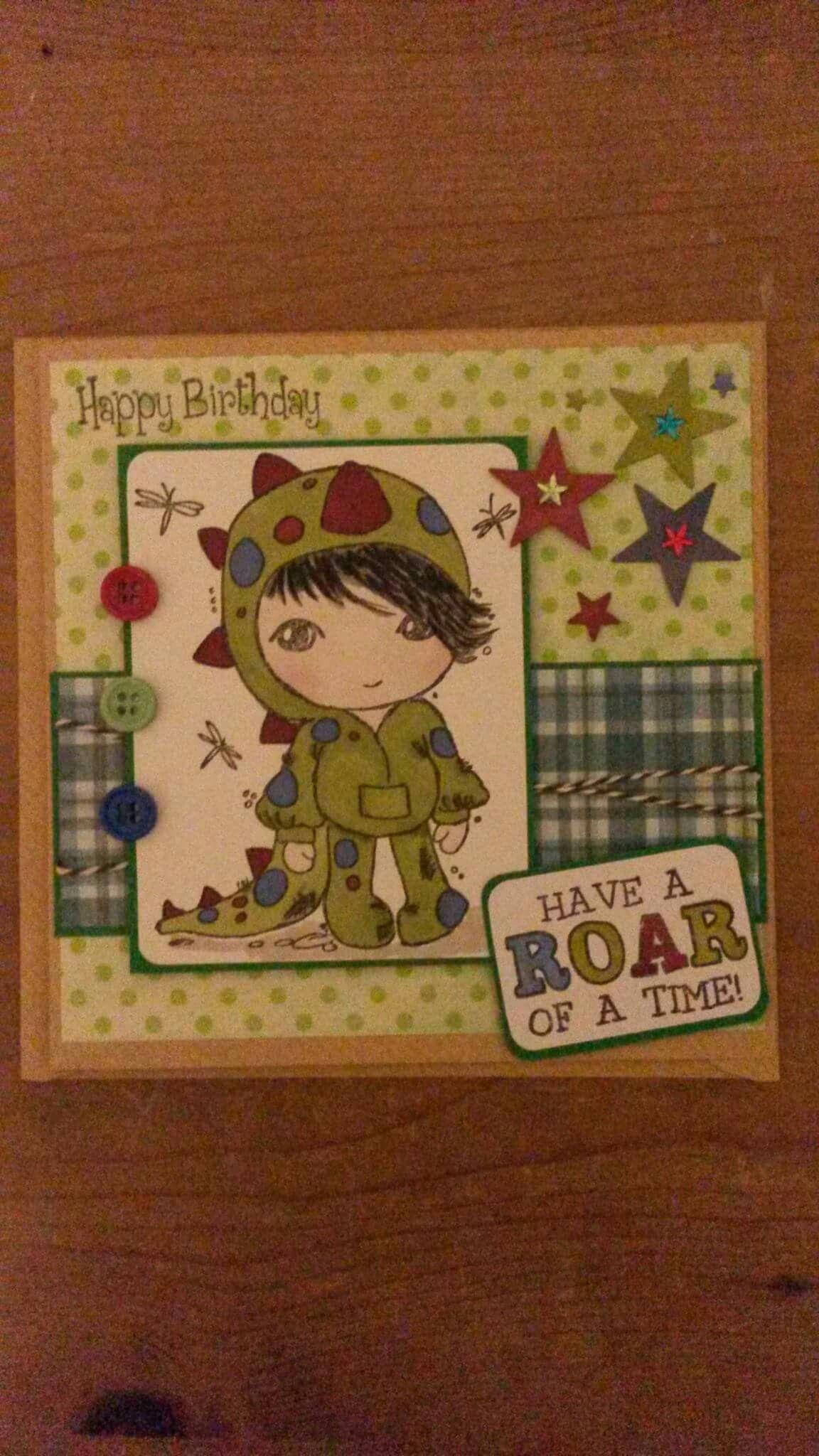 Handmade boy birthday card scruffy little kitten dinosaur pen handmade boy birthday card scruffy little kitten dinosaur bookmarktalkfo Image collections