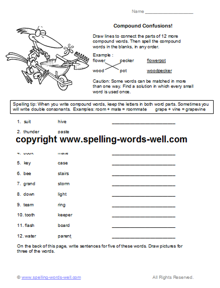 Free Fourth Grade Worksheets for Language Practice 4th