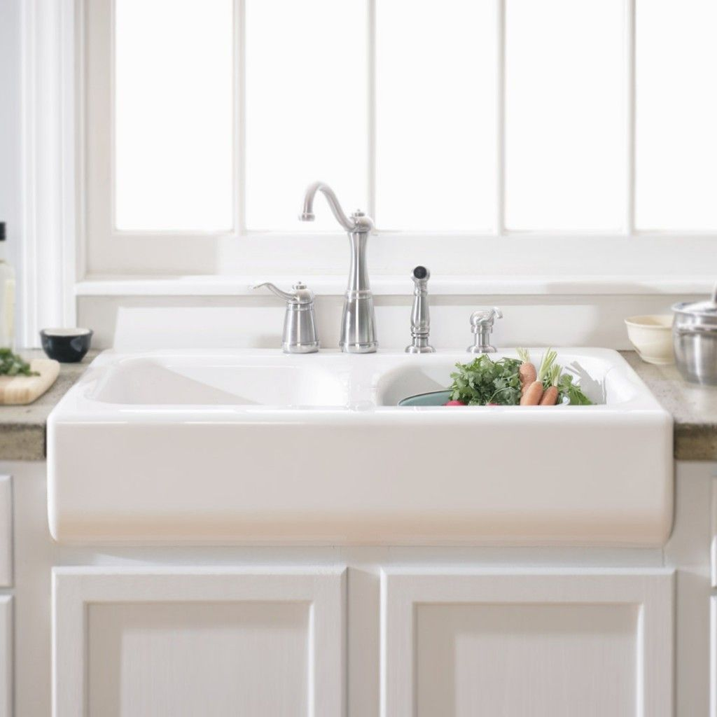 porcelain undermount kitchen sink oak islands double ceramic wonderful white design come with bowl and rustic stainless steel faucet