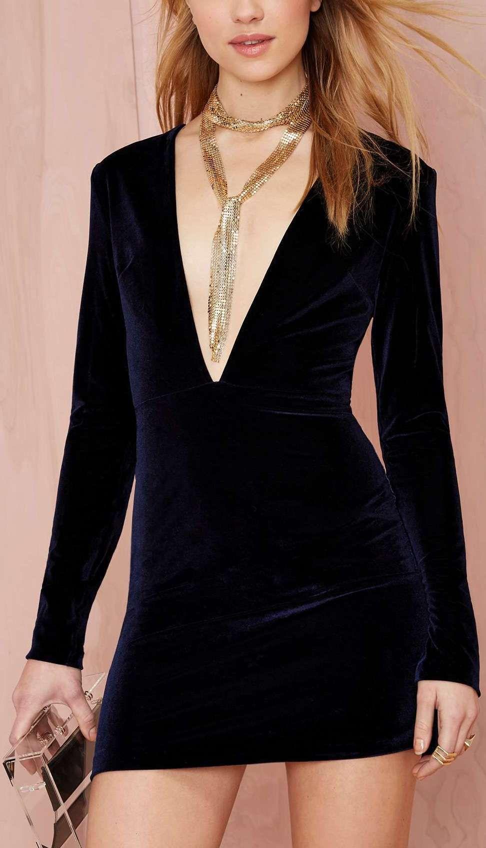 Deep Midnight Mini Velvet Dress - Navy | I want this NOW :) | Pinterest