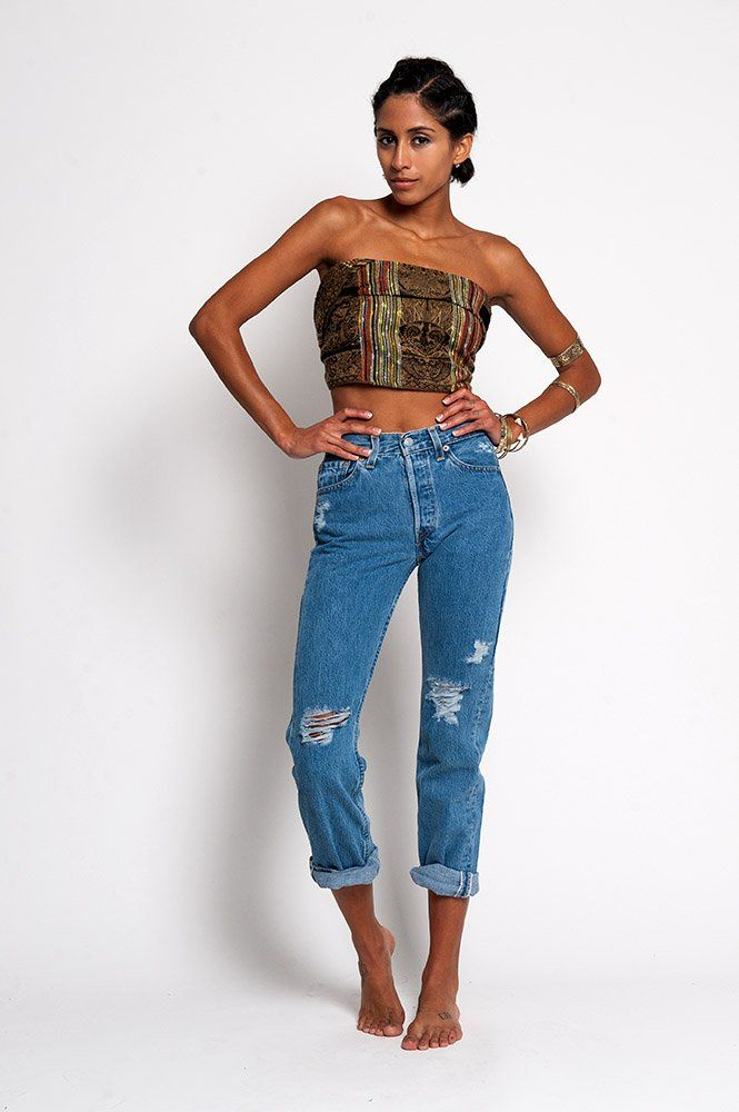 The Old School Distressed High Waist Levi&39s Jeans – WAIST 24 $197