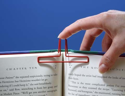 book page holder ideas