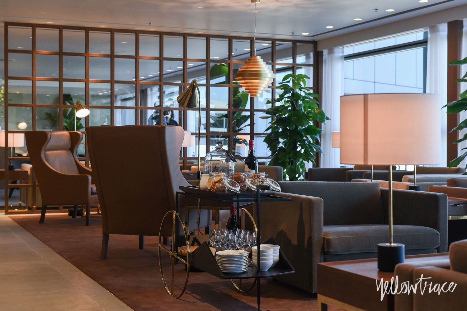 Cathay Pacific\'s The Pier First Class Lounge in Hong Kong.
