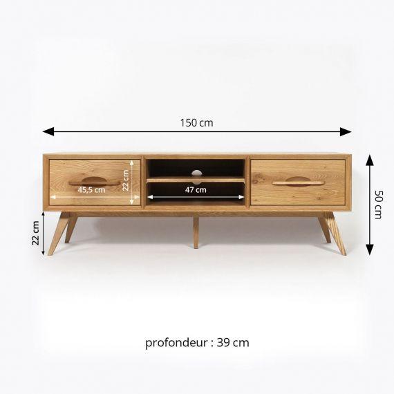 Meuble Tv Bois Massif Pieds Compas Style Vintage Dimensions Desain Furnitur Desain Perabot Kayu Palet