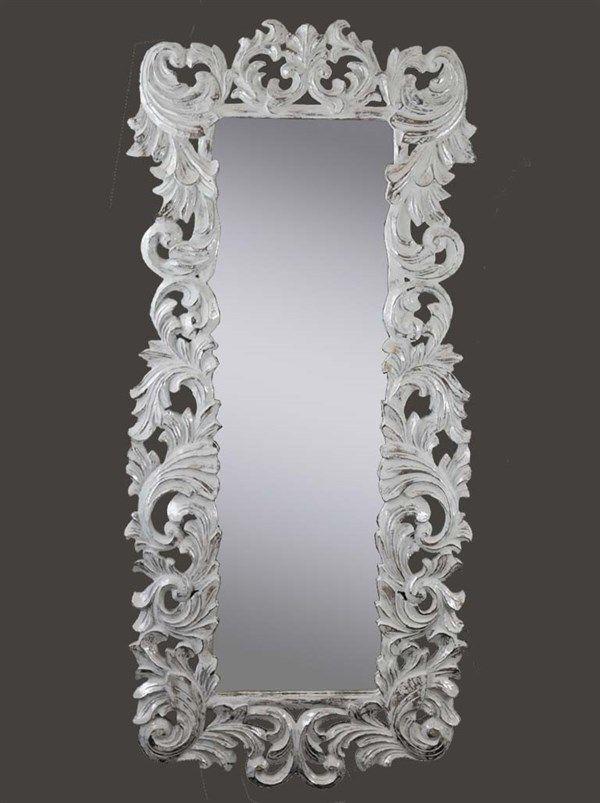 Specchio stile provenzale barocco shabby chic 160x70 baroque mirror provencal specchi - Specchio barocco argento ...