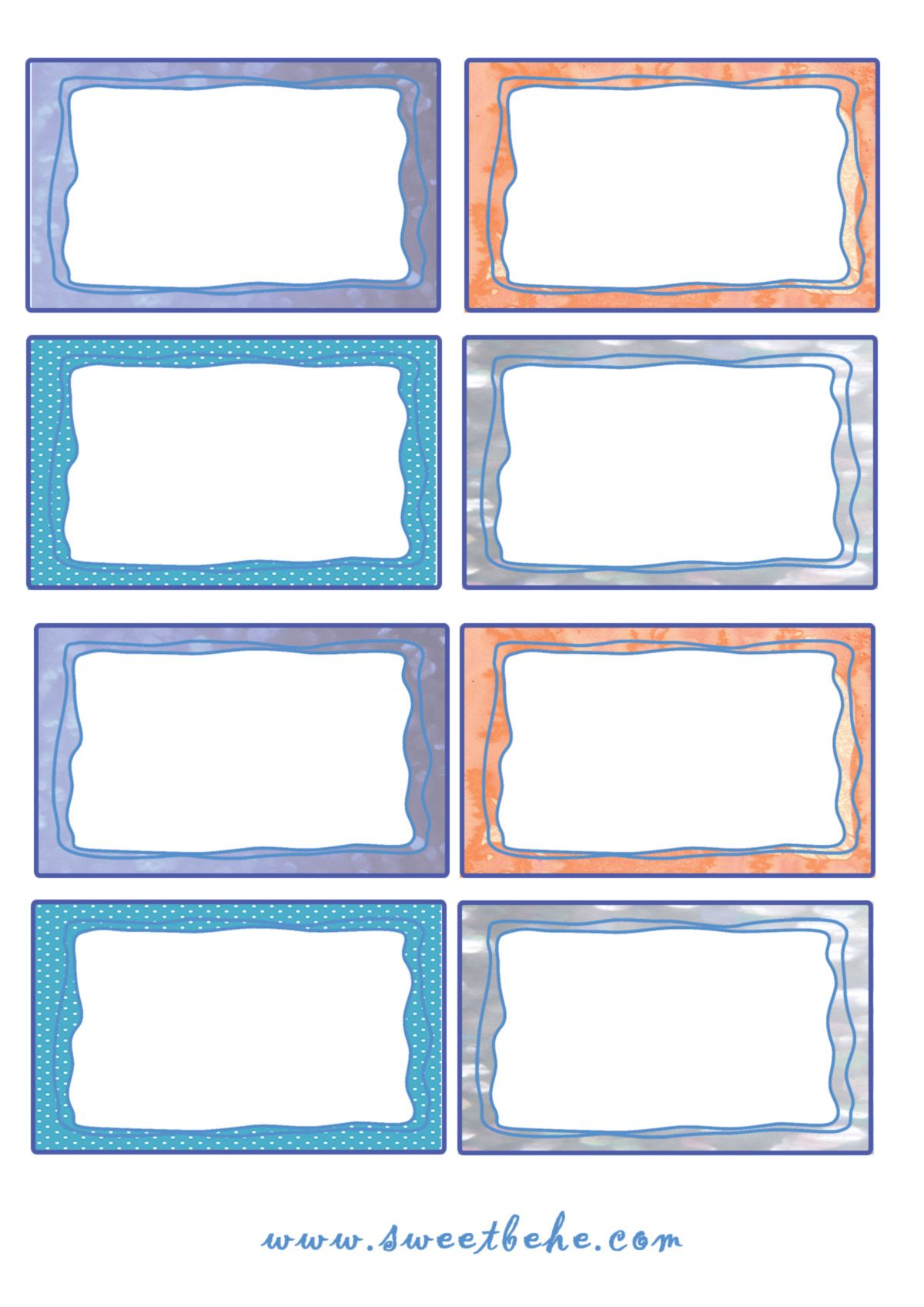 Super free printable} Etichette per libri e quaderni | matrica  HJ17