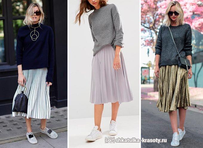 13f502708a77 с чем носить плиссированную юбку | юбка плиссе и шифон в 2019 г ...